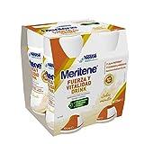 Meritene® FUERZA Y VITALIDAD - Suplementa tu nutrición y refuerza tu sistema inmune con vitaminas, minerales y proteínas - Bebida de Vanilla - Botella 4 x 125ml