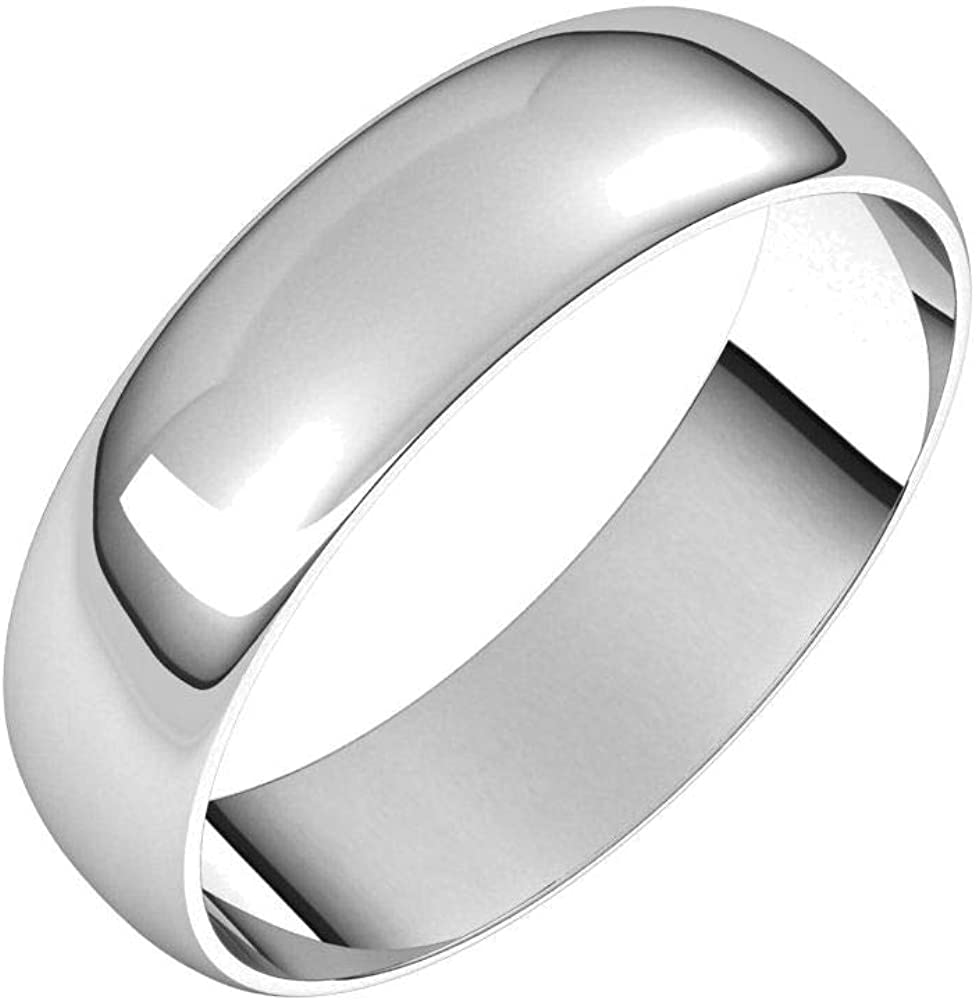 Continuum Solid Sterling Silver OFFicial store 5mm Half New sales Round Band Ultra-Light