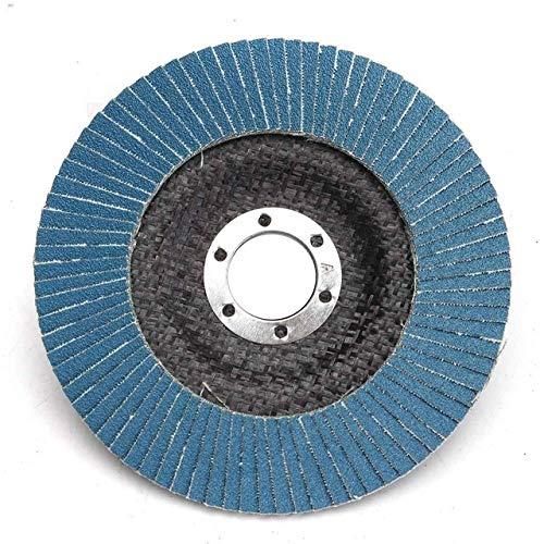 LITAO-XIE, LT-Discs, 1pc 125mm 5' smerigliatrice di Angolo di levigatura Strumento 13000 RPM 40/60/80/120 Mola Grit Flap Disc Zirconia Resistenza all'Usura abrasivi Tools (Taglia : 120 Grit)