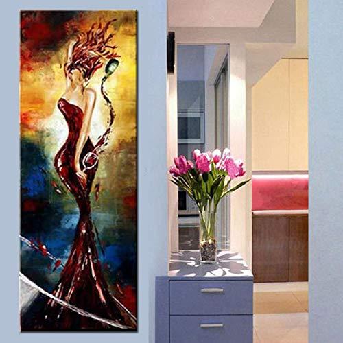 HUAYOUZXM Wanddekorkunst Bilder Abbildung Ölgemälde Handgemalte Frauen & Wein Gemälde Auf Leinwand Für Korridor