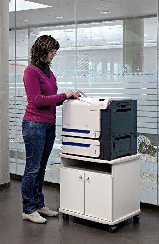 Mesa fotocopiadora e Impresora ber-copian50 Blanco Roto de 60h, 50cm Fondo, 60cm Ancho