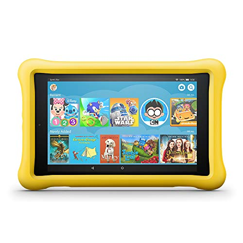 Fire HD 8 Kids Edition Tablet, 8' HD Display, 32 GB, Yellow Kid-Proof Case