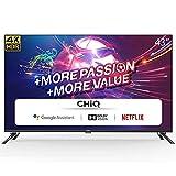 CHiQ U43H7A, 43 Pouces(108cm), Android 9.0, Smart TV, UHD, 4K, WiFi, Bluetooth,Google Assistant, Netflix, Prime Video,3 HDMI,2 USB