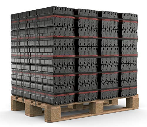 250kg Palette Briketts Union Kohle Brikett Kamin Ofen Heizbriketts im 25 kg Bündel TOP Gluthalter Rheinbraun Brennstoffe