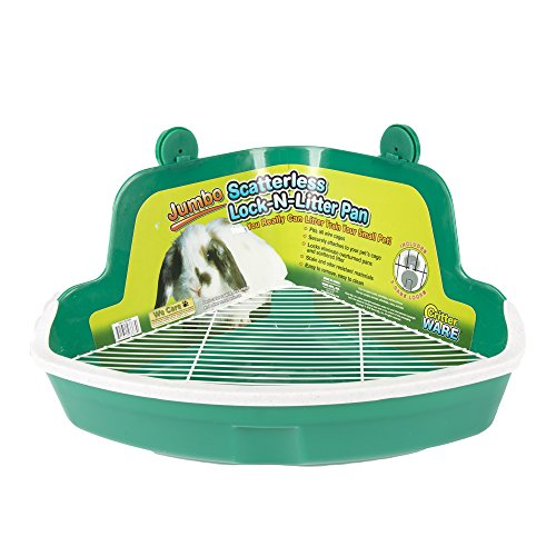 Ware Manufacturing Plastic Scatterless Lock-N-Litter Bigger Pet Pan, Jumbo - Colors May Vary