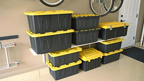 Homz Durabilt Tough Storage Tote Box, 27 Gallon, Camo With Lid, Stackable, 4-Pack 5