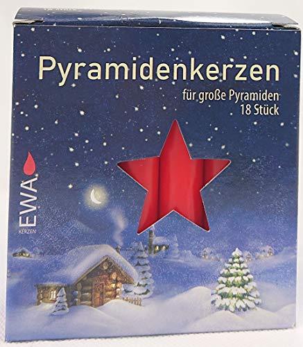 Pyramidenkerzen ca. 1,8 x 10,5 cm (54 Kerzen, Rot)