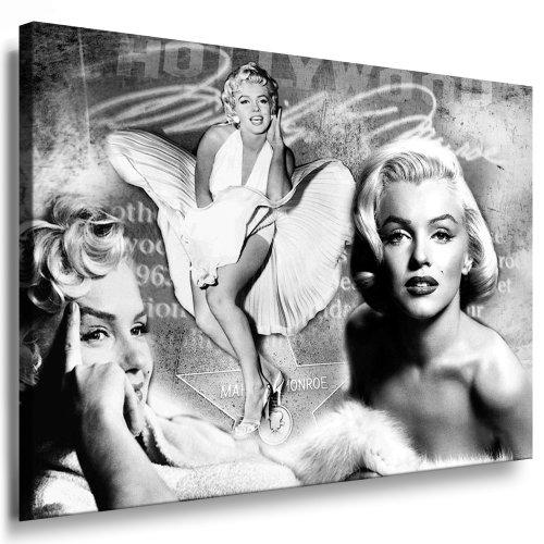 Marilyn Monroe Leinwand Bild 100x70cm k. Poster ! Bild fertig auf Keilrahmen ! Pop Art Gemälde Kunstdrucke, Wandbilder, Bilder zur Dekoration - Deko. Film/Tv Stars...