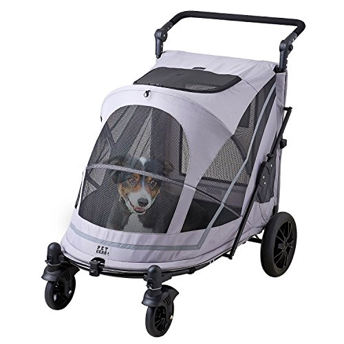 【OFT】 PGソフトカートBIG ニュー 本体 4輪カート 小型犬 中型犬 大型犬 多頭飼い 耐荷重30kg 折り畳み可能 飛び出し防止リード2本付き