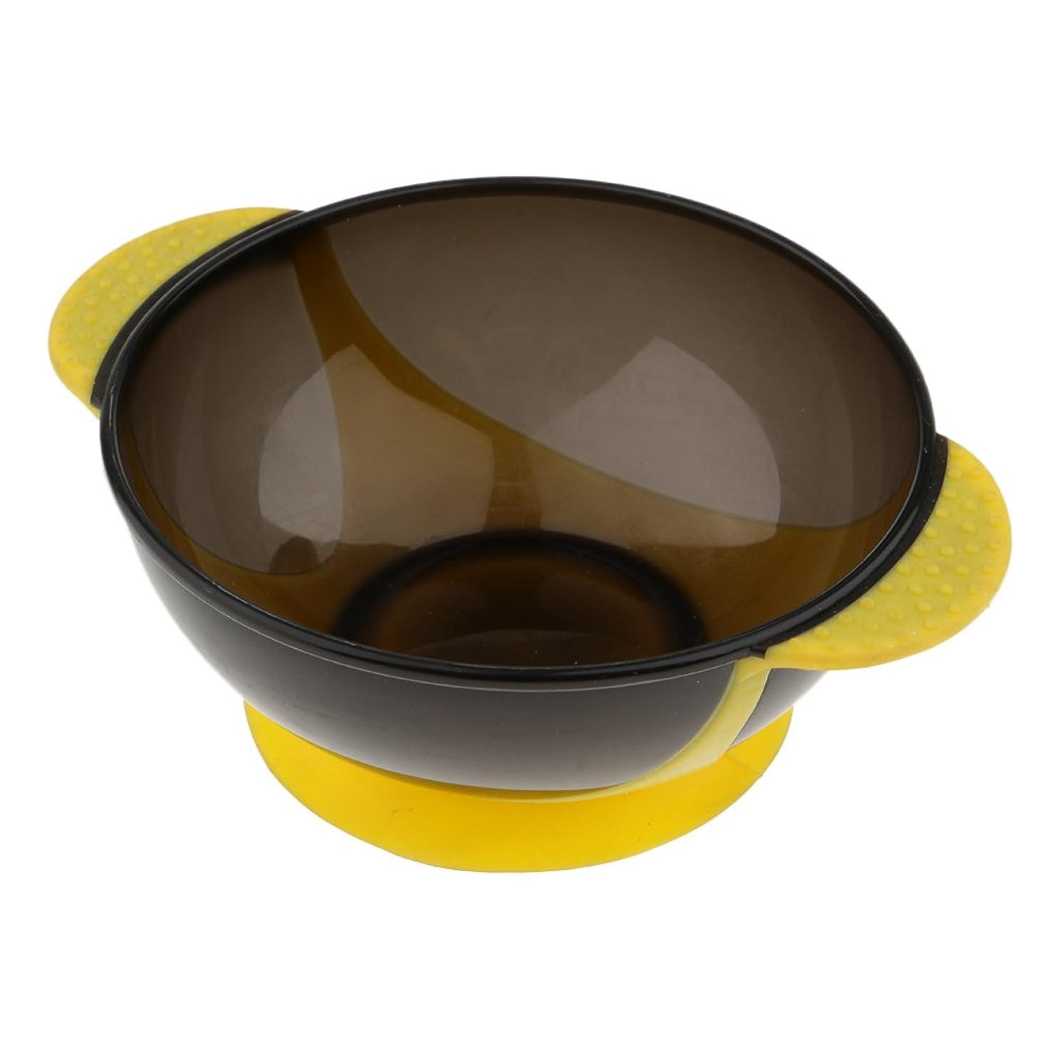 混合した謙虚技術Kesoto ヘアダイボウル ヘアカラー ヘアカラーカップ 髪染め おしゃれ染め プロ 3色選べる - 黄