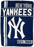 Northwest MLB New York Yankees Micro Raschel Throw, One Size, Multicolor