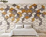 Sijoo Fotos, Fondos de Pantalla 3D, murales, Mosaico Simple de Mosaico de Jengibre Moderno Fondo de Pantalla de TV 3D decoración del hogar-AliExpress