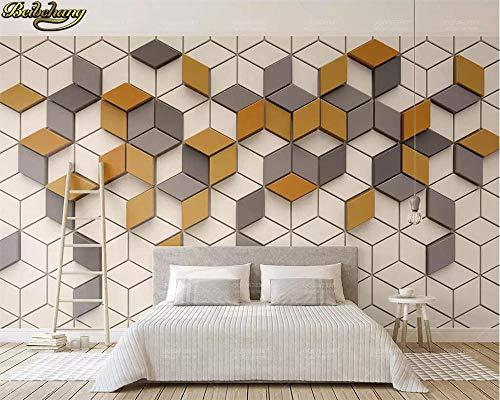 Sijoo Fotos, 3D-Tapeten, Wandbilder, einfache Ingwer-Mosaik-Mosaik Moderne 3D-TV-Hintergrund Tapete Home Decoration-AliExpress