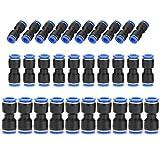 sourcingmap/® Conectores R/ápidos Rectos de 5 X 12mm a 10mm Empuje Empuje Adentro en Guarniciones