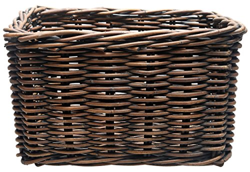 New Looxs Unisex-Adult Fahrradkorb Brisbane Large, Braun, 46 x 33 x 26 cm