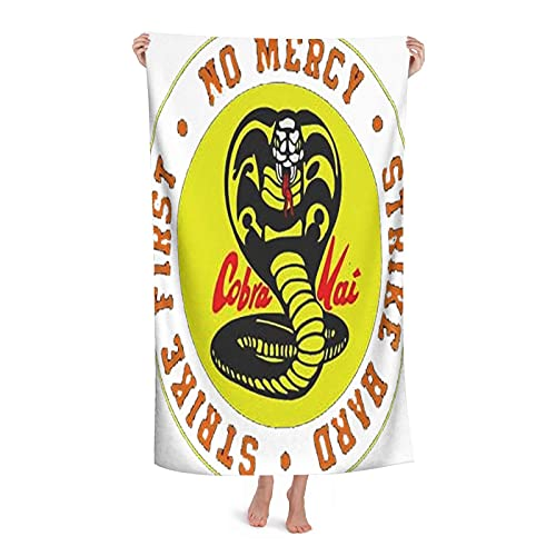 Cobra Kai - Toallas de playa de microfibra ultra ligeras, toallas de baño, toallas de baño, natación absorbente, camping, fitness, esterilla de yoga, mantas para adultos