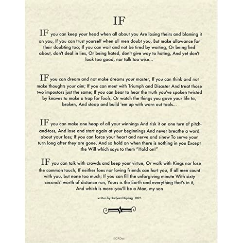 picture regarding If by Rudyard Kipling Printable identified as If through Rudyard Kipling: