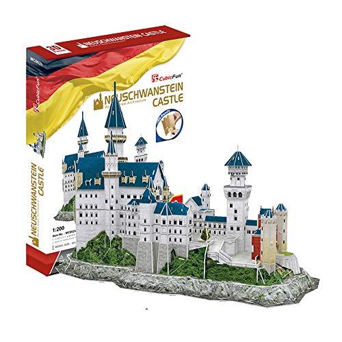 Tachan Puzzle 3D Castillo de Neuschwanstein Schwangau Alemania, 121 Piezas (Cubic Fun 771MC062)