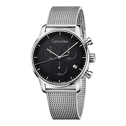 Calvin Klein City K2G27121 - Orologio da uomo con cronografo cinturino,maglia milano