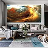 Large Wall Art Print Poster Abstract Cloud Colorful Landscape Photo Canvas for...