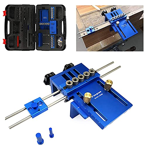 HITOMEN Adjustable Doweling Jig Kit with 5 Dowel Drilling Sleeves 6 8 10mm for Woodworking