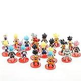 Lote de 21 figuras de dragón de Goku Vegeta Super Saiyan Frieza Anime Modelo Figuras Juguetes para T...