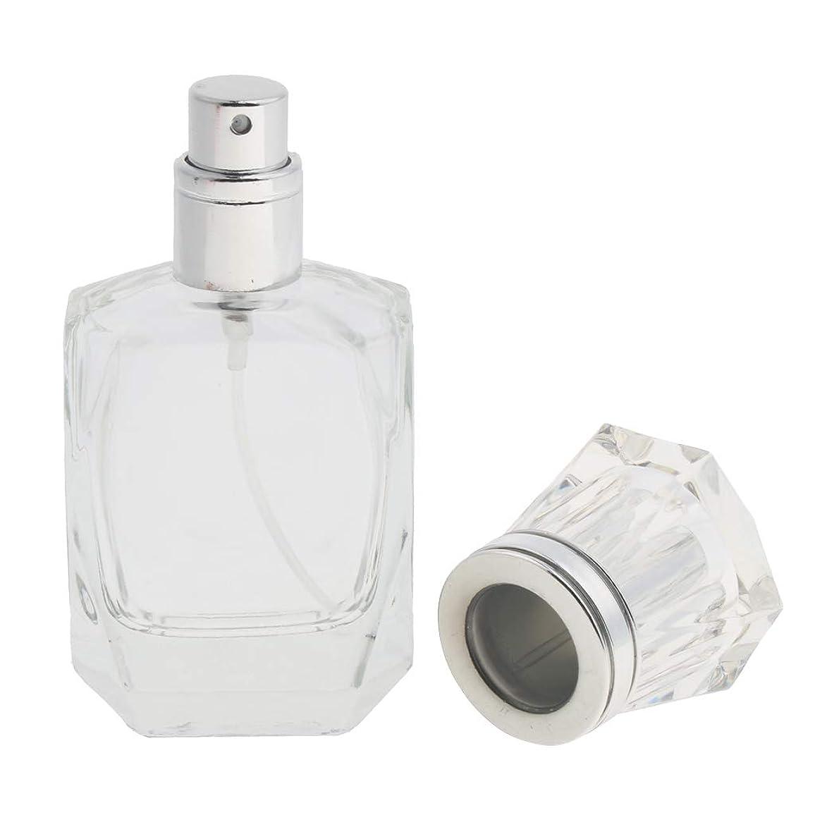 異なる国旗方向CUTICATE 香水ボトル 化粧ボトル ガラス ミストボトル 30ml クリア 旅行小物