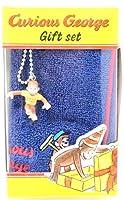 キュリアスジョージ ギフトセット Curious George フィギュア付きハンカチセット ブルー