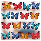 16 Adesivi elettrostatici Grandi per Finestra con Bellissimi Grandi Farfalle Pellicola per vetri finestre - Adesivi anticollisione Farfalle per Finestra -Stampa Esclusiva su Entrambi i Lati