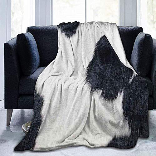 DWgatan Couverture,Jeté de lit Super Chaud en Polaire Easy Care,100% Polyester léger canapé Confort Enfants, Chambre à Coucher,Cowhide Printed Blanket for Bedroom Living Room Couch Bed Sofa -60\