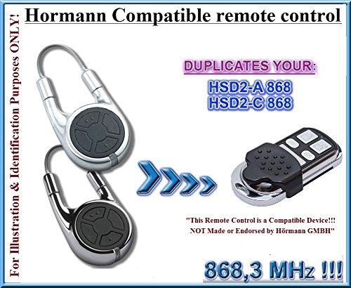 Hormann HSD2868kompatibel Clone Fernbedienung Transmitter, 868,3MHz fixed code clone. (nicht kompatibel mit BS BiSecur Fernbedienungen)