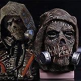 WANGP Vampiro espantapájaros máscara del Horror, Horror de Halloween del Fantasma Festival de látex Sombrero Cosplay Funcionamiento apoya Casco, Brown-OneSize