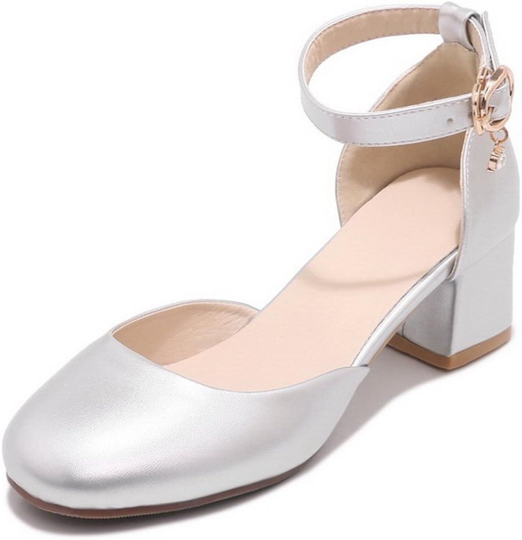 BalaMasa Womens Sandals Closed-Toe No-Closure Kitten-Heel Fabric Huarache Urethane Sandals ASL04379