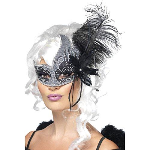 NET TOYS Antifaz de Plumas para Mujer máscara Veneciana Teatro ópera