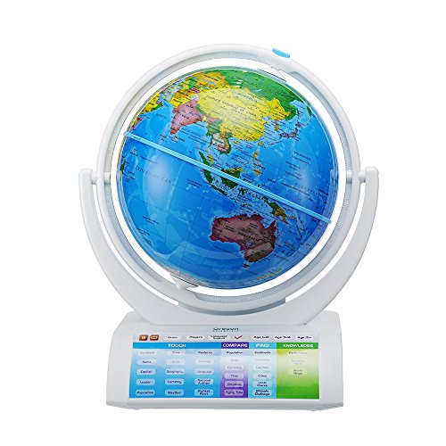 Oregon Scientific Terráqueo Smart Globe Explorer Ar, Multicolor, única (SG-338-R)