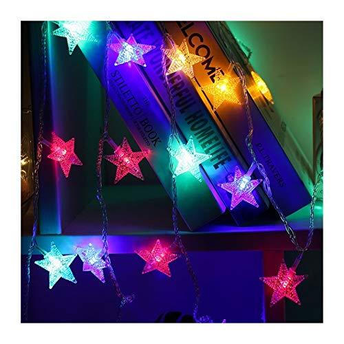 JINSUO Moonlight Star Luz de Navidad -10/20 la Estrella del LED Luz de la Secuencia del centelleo del guirnaldas batería lámpara accionada Vacaciones del Año Nuevo Decoraciones de Navidad de Inicio