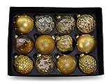MC Trend Juego de 12 bolas de Navidad (diámetro de 8 cm)