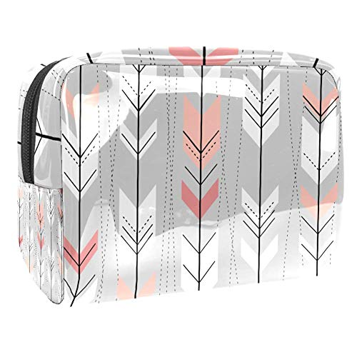 Trousse de toilette multifonction pour femme - Style bohème avec flèches et lignes