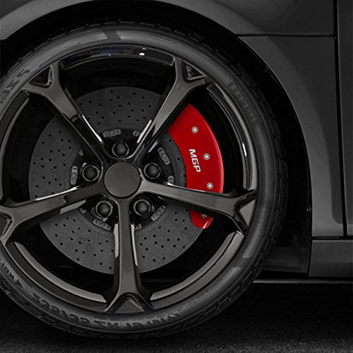 Upgrade Your Auto Set of 4 Front and Rear Red MGP Caliper Covers for 2011-2015 Kia Optima