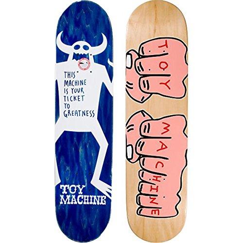 Toy Machine Skateboard Deck Woodgrain Fists 7.75'' Skate Deck