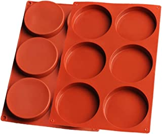 2 pack 6-Cavity Large Cake Molds Silicone Round Disc Resin Coaster Mold Non-Stick Baking Molds, Mousse Cake Pan,Chocolate ...