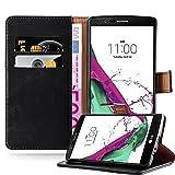 Cadorabo Coque pour LG G4 / G4 Plus en Noir DE Jais – Housse Protection avec Fermoire Magnétique, Stand Horizontal et Fente...