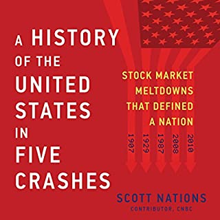 A History of the United States in Five Crashes     Stock Market Meltdowns That Defined a Nation              By:                                                                                                                                 Scott Nations                               Narrated by:                                                                                                                                 Christopher Grove                      Length: 12 hrs and 32 mins     474 ratings     Overall 4.5