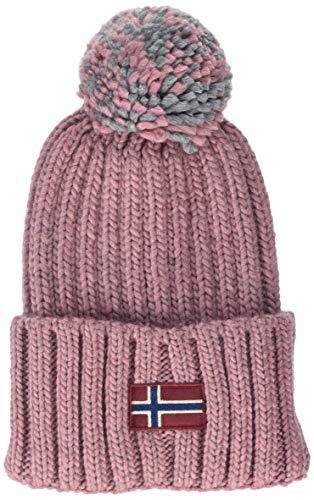 Napapijri Damen SEMIURY WOM Strickmütze, Rosa (Pink Blush P79), One Size (Herstellergröße: OS)