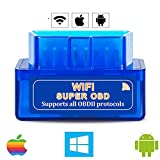 WiFi OBD2 Scanner for Android iOS(iPhone iPad), Launchh OBDII Auto Diagnostic Scan Tool, Car Diagnostic Scanner, Car Error Code Reader