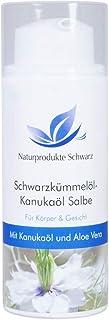 Naturprodukte Schwarz - Schwarzkümmelöl-Kanukaöl Salbe, 50ml