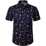 JOGAL メンズ アグリーファンキー ハワイアン トロピカ アロハ サマーシャツ US サイズ: Small カラー: ブルー