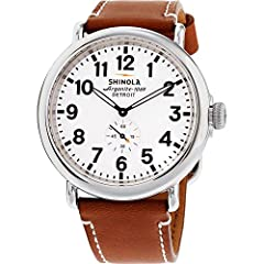 Housing Material: stainless steel Strap Material: leather Face Material: sapphire crystal Movement: Shinola Argonite 715 quartz Date Indicator: no