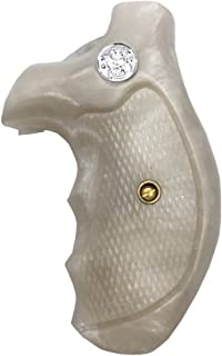 JRR04 ## New Smith & Wesson S&W J Frame Round Butt Bodyguard Grips Silver Medallions White Pearl Resin Checkered Handmade Handcraft Beautiful Gift Newyear Christmas Sport for Men by Handicraftgrips