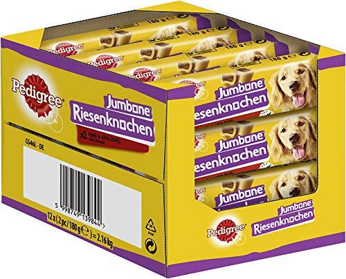 Pedigree Hundesnacks Riesenknochen für mittelgroße Hunde mit Rind & Geflügel, 24 Stück (12 x 2 Stück)